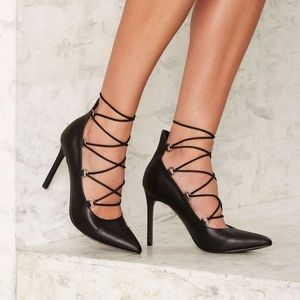 Nasty Gal Zelda Lace-Up Heels